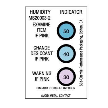 אינדיקטור לחות לסימון 30-50 אחוזי לחות יחסית